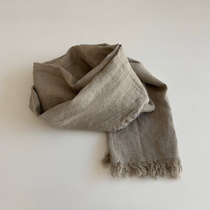 Linen Scarf in Raw