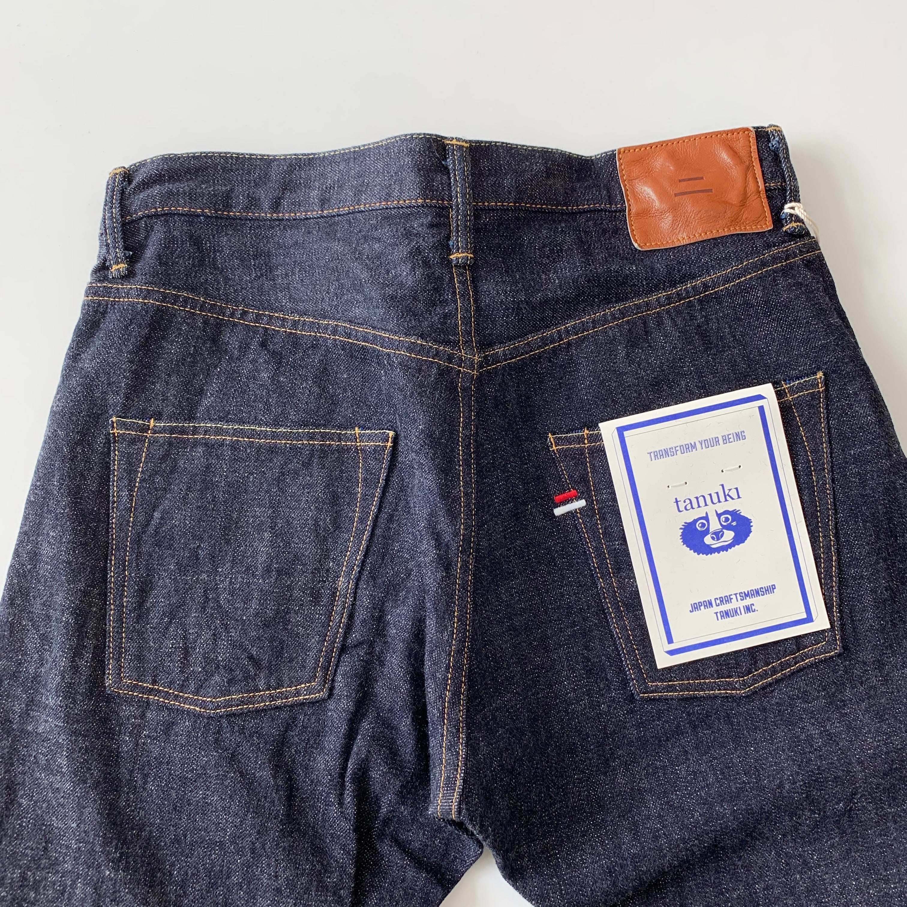 "ZHT ""Zetto"" High Rise Tapered 14.5oz Selvedge Jeans"