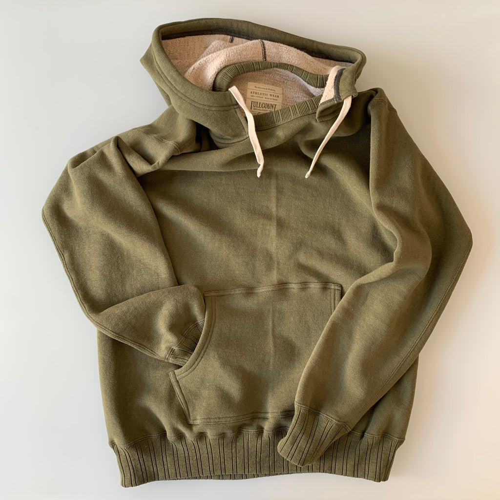 Ltd. Ed. After-Hood Tsuriami Loopwheel Mother Cotton Sweat Parka in Olive