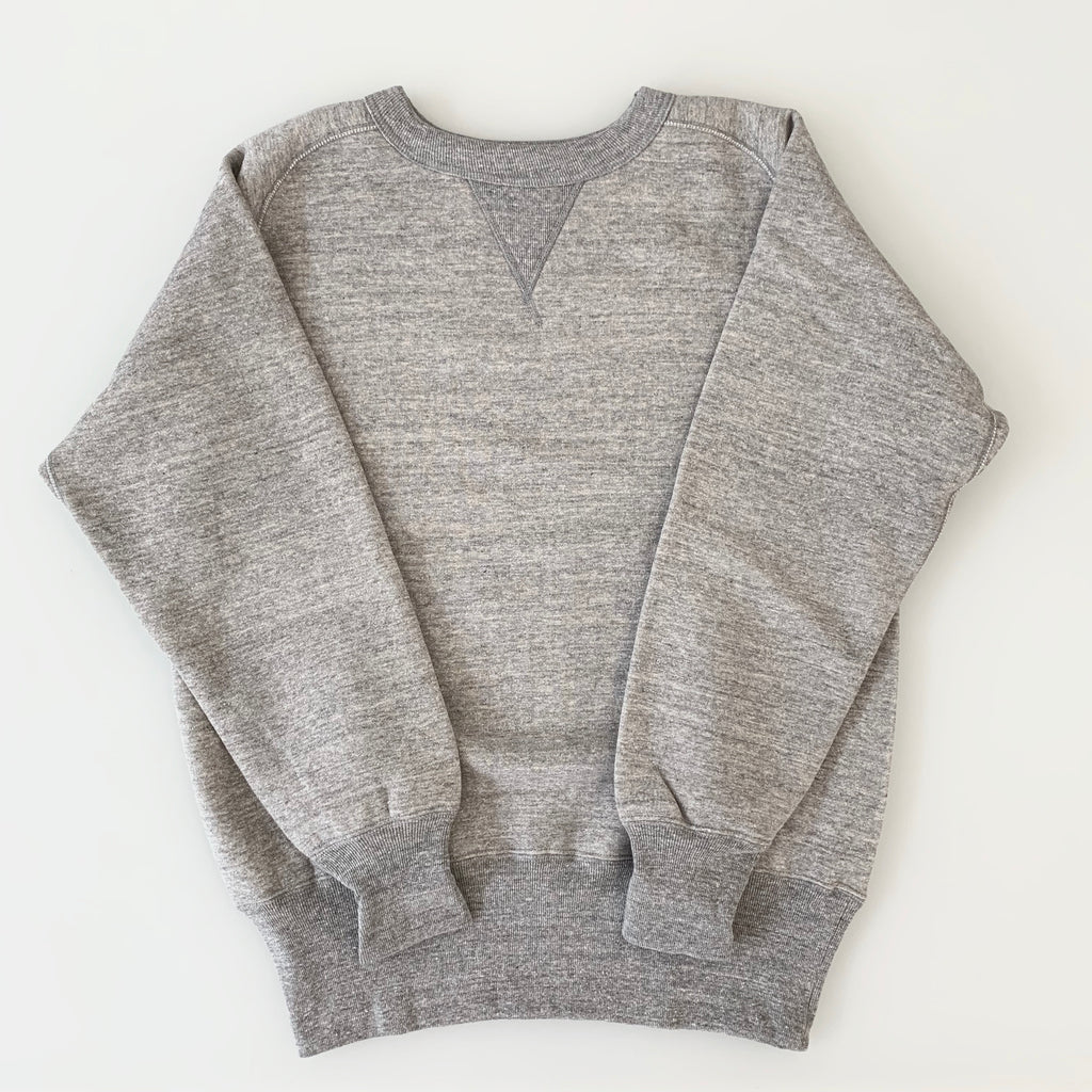 Tsuri-Ami Loopwheel Freedom-Sleeve Sweatshirt in Grey
