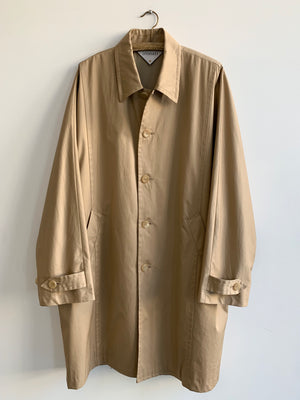 """Matou"" Dolman Sleeve Cotton Coat in Beige"