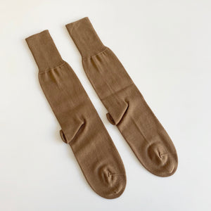 Plain Jersey Socks in Rustic Brown