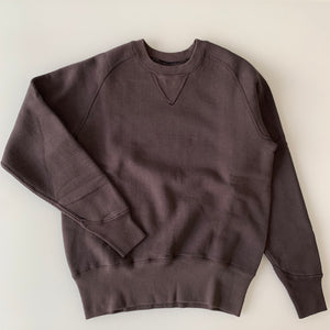 Freedom Sleeve Loopwheel Crewneck Sweatshirt PS100 in Black