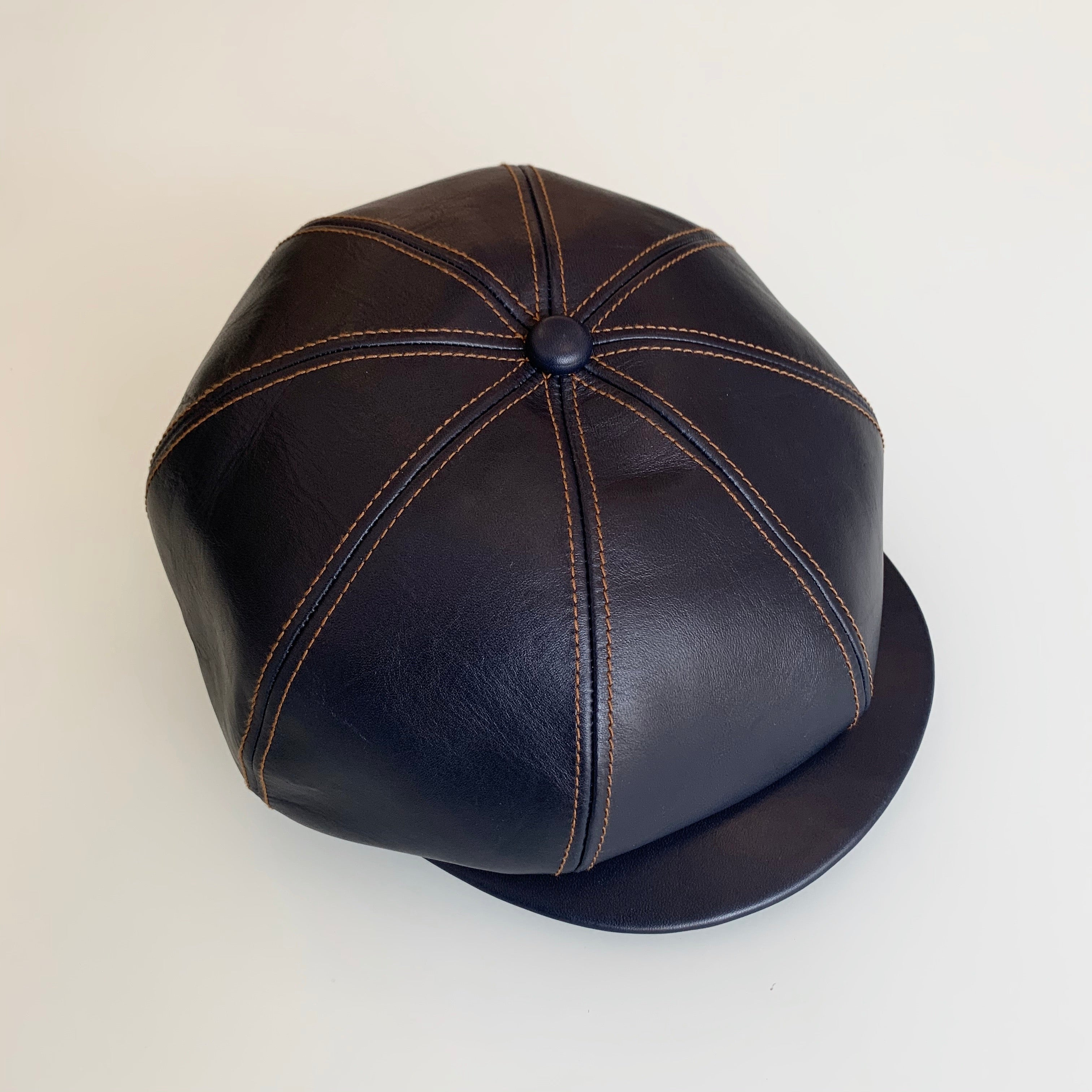 Indigo Dyed Horsehide Leather Casquette (LC-04)