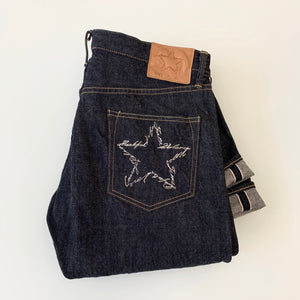 Washi Paper Star - 14oz Red-Cast Selvedge Jeans 113KD - Relax Tapered