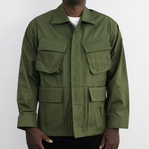 """Over Jacket"" in Olive High Density Cotton Drill"