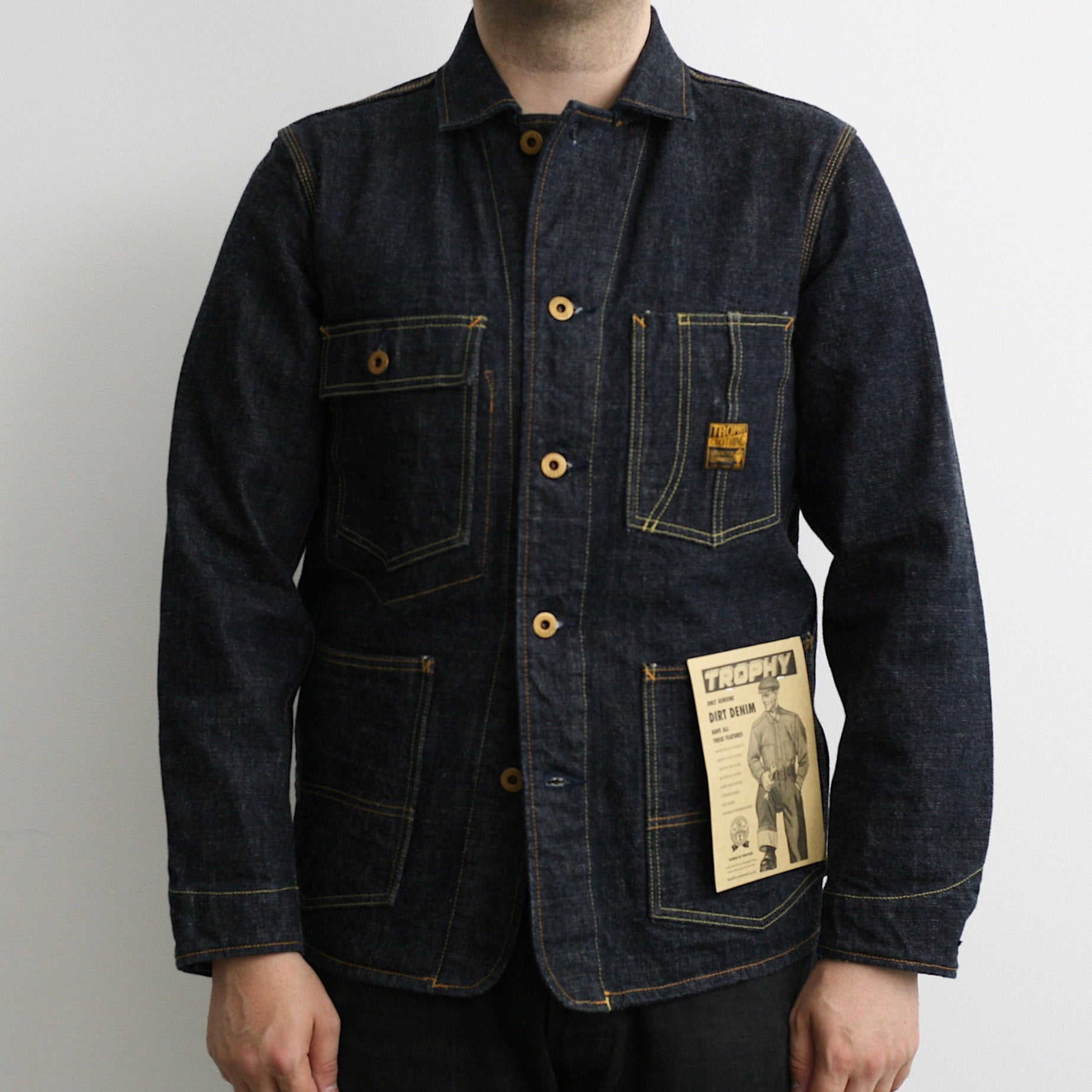 2604 14.5oz Dirt Denim Coverall
