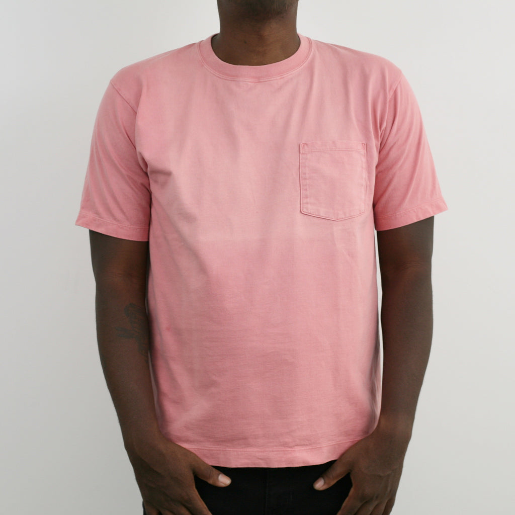 C.T.L. Saburoku Loopwheel Pocket T-Shirt - Akane Dyed