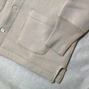US013 Opened Front Long Sleeve in Parchment