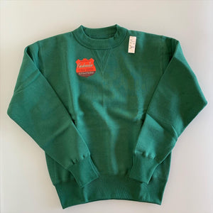 Tsuri-Ami Loopwheel Set-In-Sleeve Sweatshirt in Green