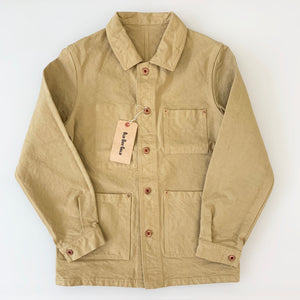 Kurashiki Hampu Duck-Canvas French Work-Jacket in Beige