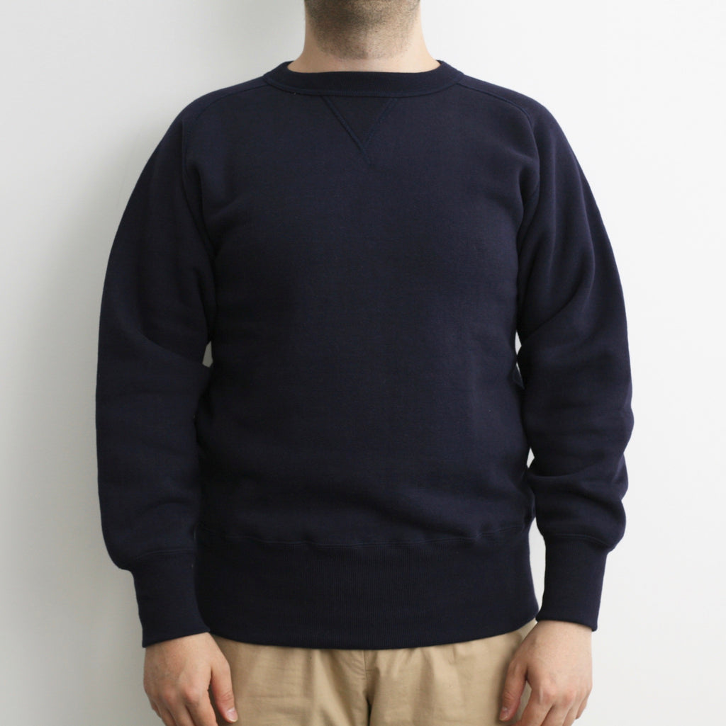 Tsuri-Ami Loopwheel Freedom-Sleeve Sweatshirtin Navy