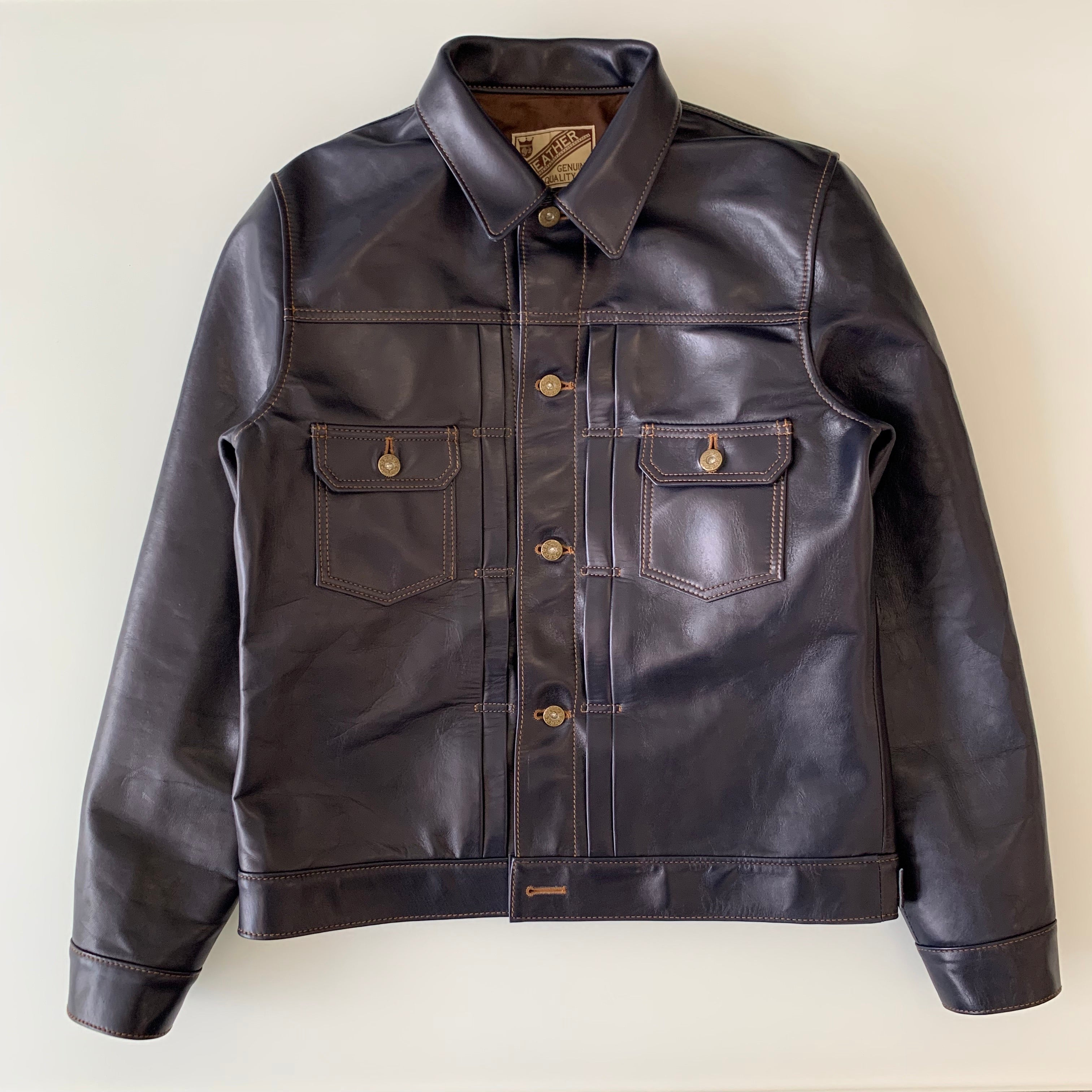 Indigo Dyed Horse Hide Type II G Jacket (IB-141)