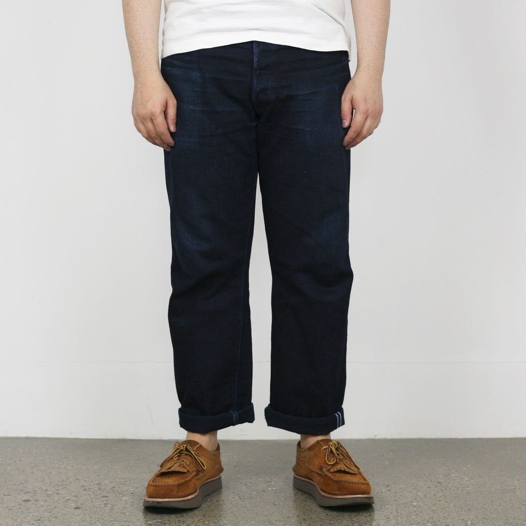 "IDR ""Double Indigo"" 15oz Selvedge Regular Straight Fit Jeans"