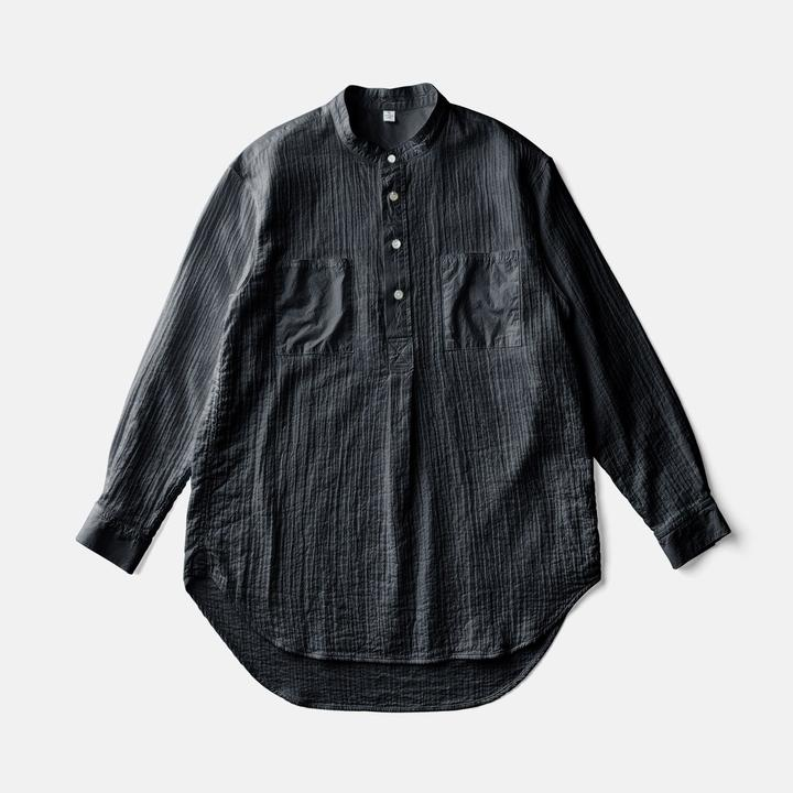 Zen Whispering Sea Cotton Shirt - Black
