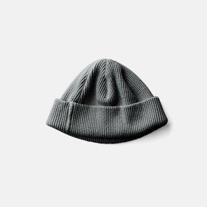 Silk Noel Organic Cotton Waffle Farm Beanie - Short -  Sumi Ink Dyed