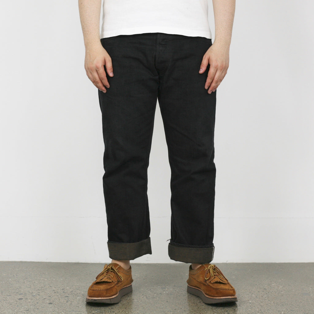 1907 13.5oz Narrow Blackie Selvedge Denim - One Wash