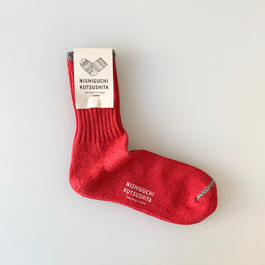 Silk Cotton Socks in Red