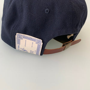 Baseball Cap-M in Navy Wool Cotton