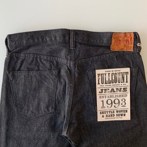 Ltd. Ed. 1108BK 14oz Slim Straight Black x Écru Selvedge Denim - OW