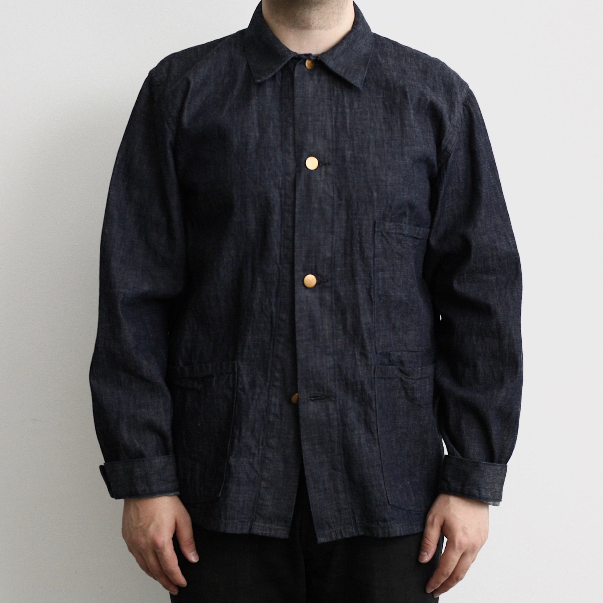 1930's French Work Coverall in 8oz Indigo Denim