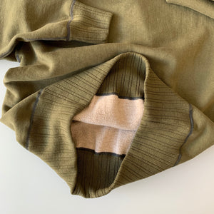 Ltd. Ed. Double-V Set-In Sleeve Tsuriami Loopwheel Mother Cotton Sweat Shirt in Olive