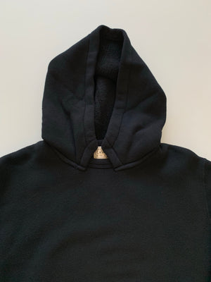 Tompkins Knit 1940's Attached Hood Parka in Royal Black