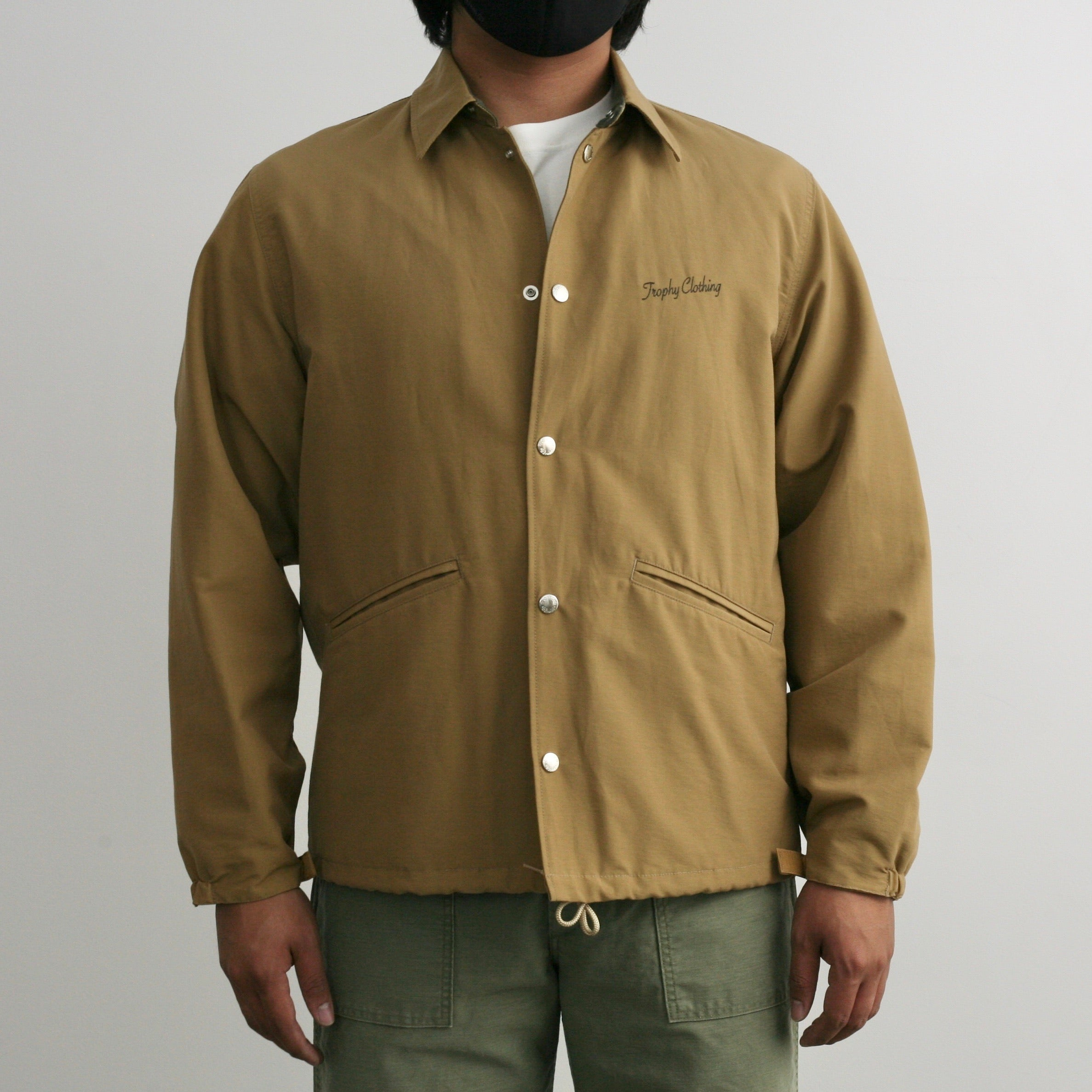 Classic Logo Warm Up Jacket in Beige