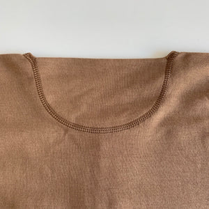 US001 Henley Neck Long Sleeve in Rustic Brown