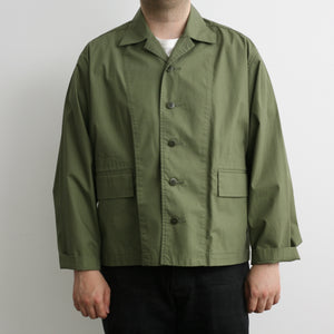 """Spring Person"" Cotton Jacket in Olive Drab"