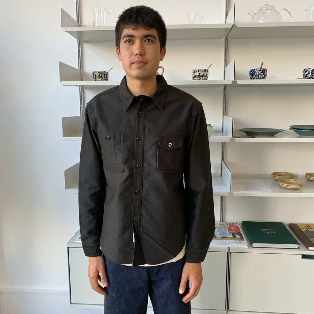 Moleskin Machine Age Shirt in Black
