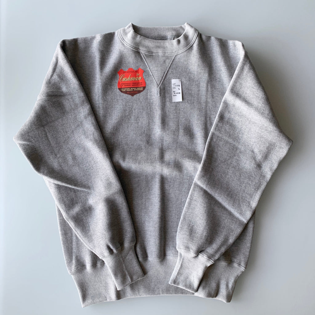 Tsuri-Ami Loopwheel Set-In-Sleeve Sweatshirt in Mixed Grey