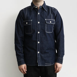 Triple-Stitch Work Shirt in Indigo Denim 770WS