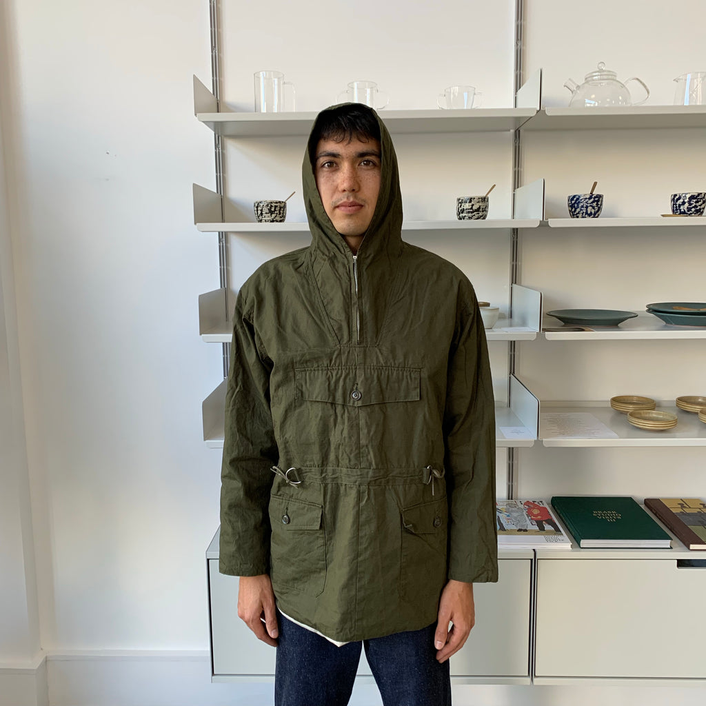 Brush Anorak Parka in Forest Green