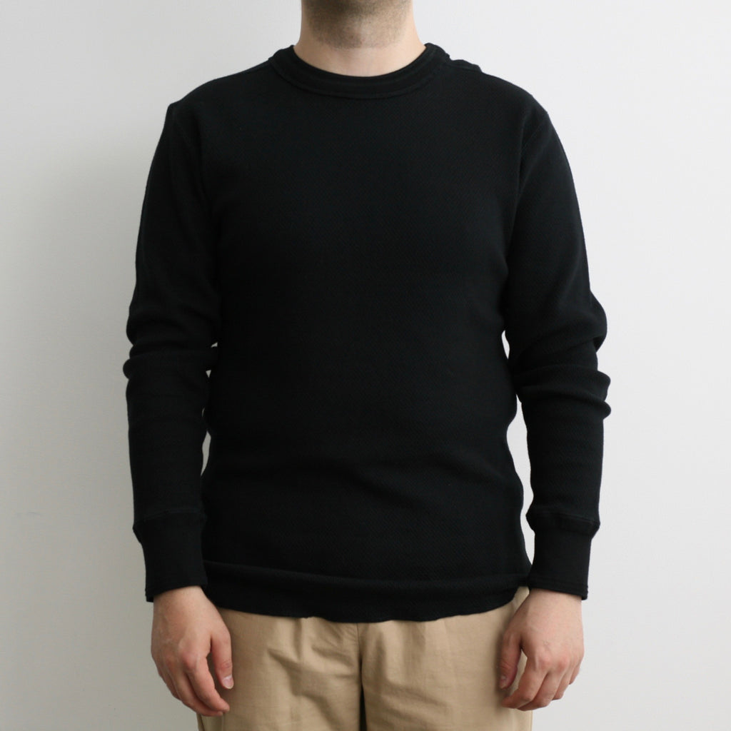 Beehive Thermal Crewneck L/S in Black