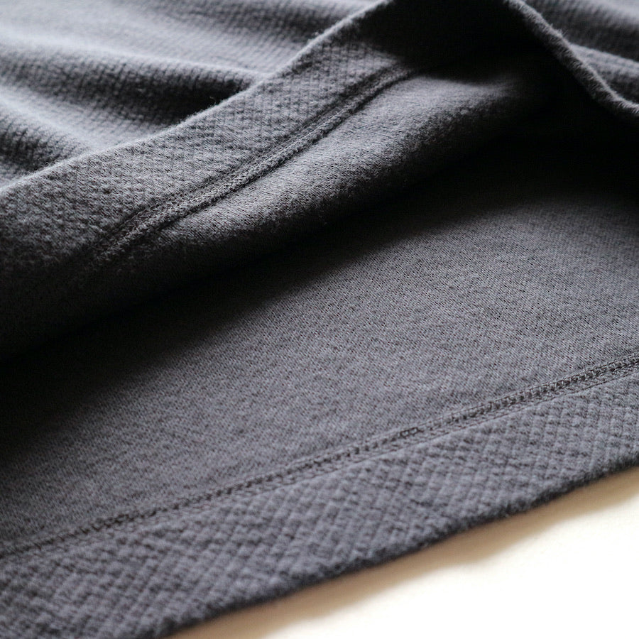 Twill Face Knit L/S Crewneck in F. Navy