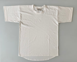 Suvin Plain Stitch Crew Neck Short Sleeve - Off White