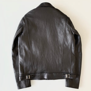 AD-03 British Asymmetry Jacket in Black Teacore Sheepskin