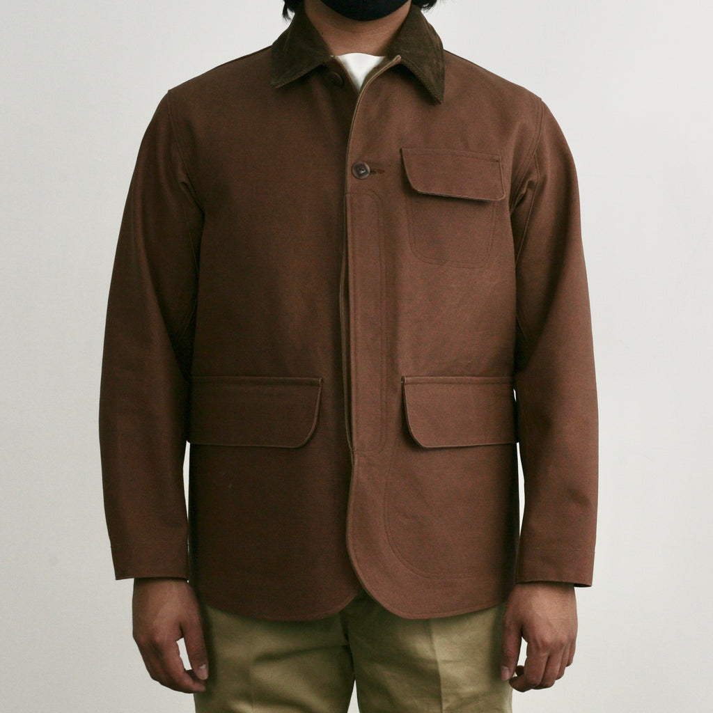 Oiled-Duck Hunting Jacket in Brown