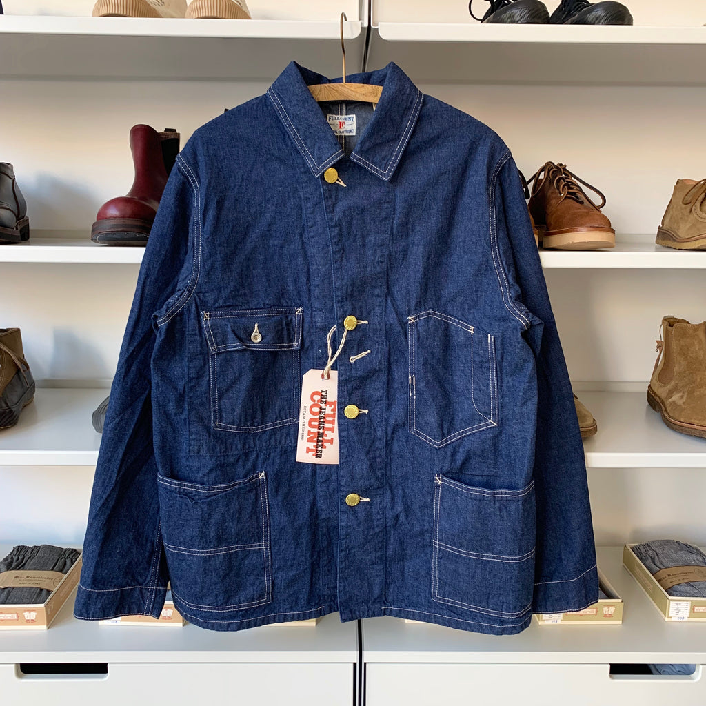Denim Coverall Jacket in Light Blue Denim