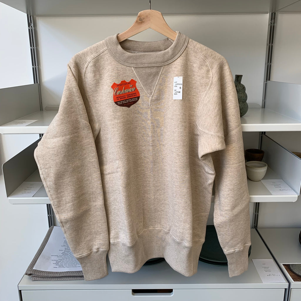 Freedom Sleeve Loopwheel Sweatshirt in Mixed Beige