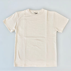 Tsuri-Ami Loopwheel Slub Cotton T-Shirt in Écru