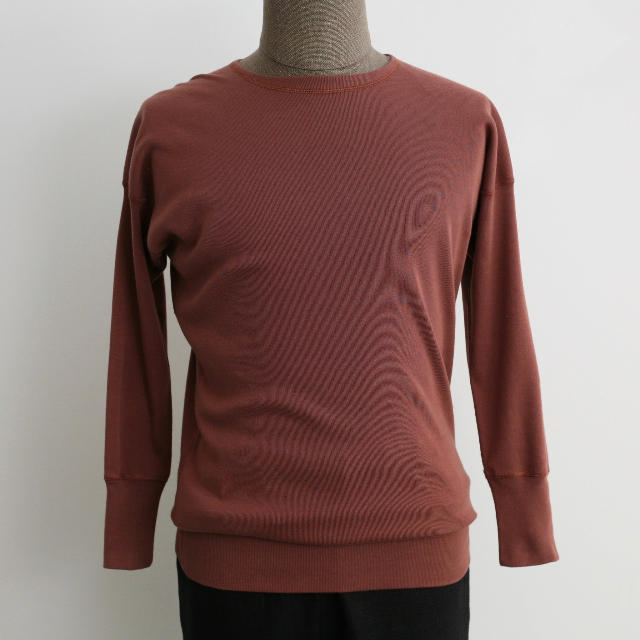 US006 Crew Neck Long Sleeve Sweat Shirt in Rosewood