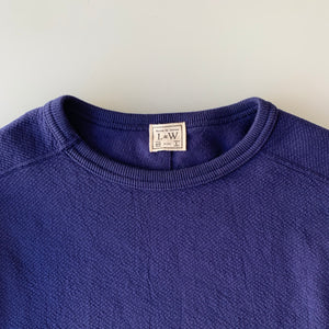 Twill Face Knit L/S Crewneck in Navy