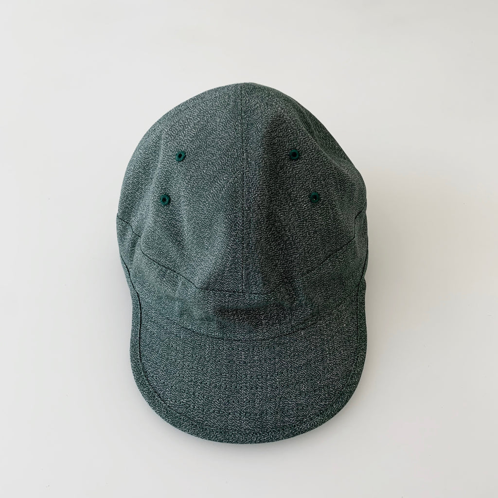 USMC Cap in Heather Green Mock Twist Chambray