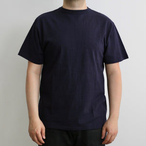 Tsuri-Ami Loopwheel Slub Cotton T-Shirt in Navy