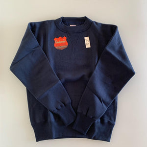 Tsuri-Ami Loopwheel Set-In-Sleeve Sweatshirt in Navy
