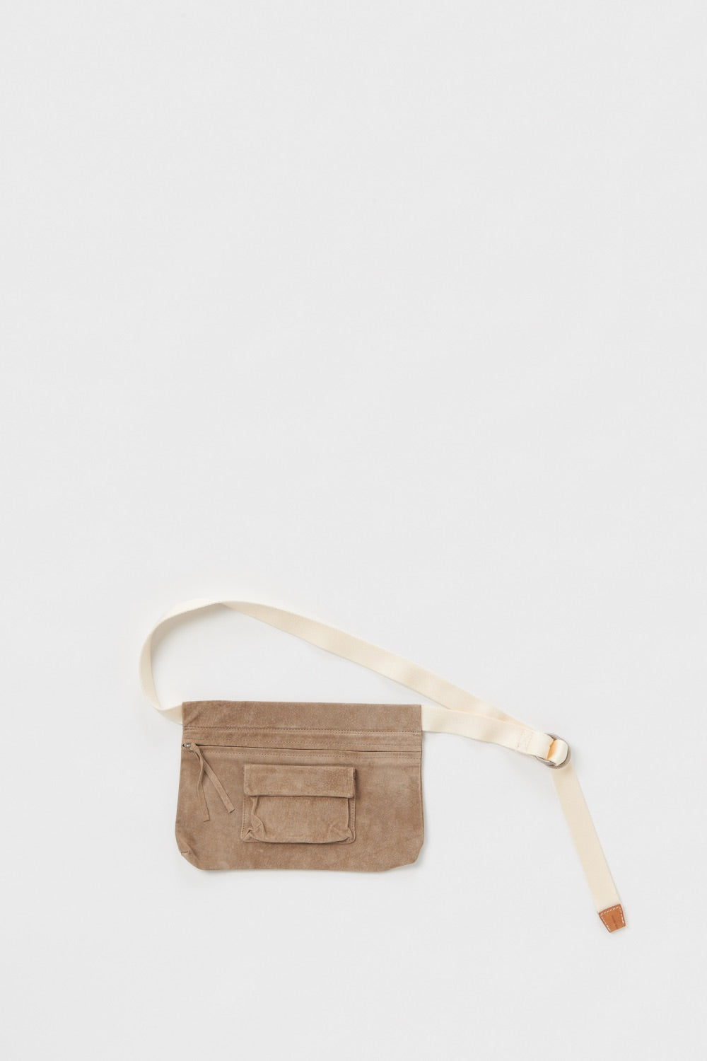 Waist Belt Bag Wide in Beige