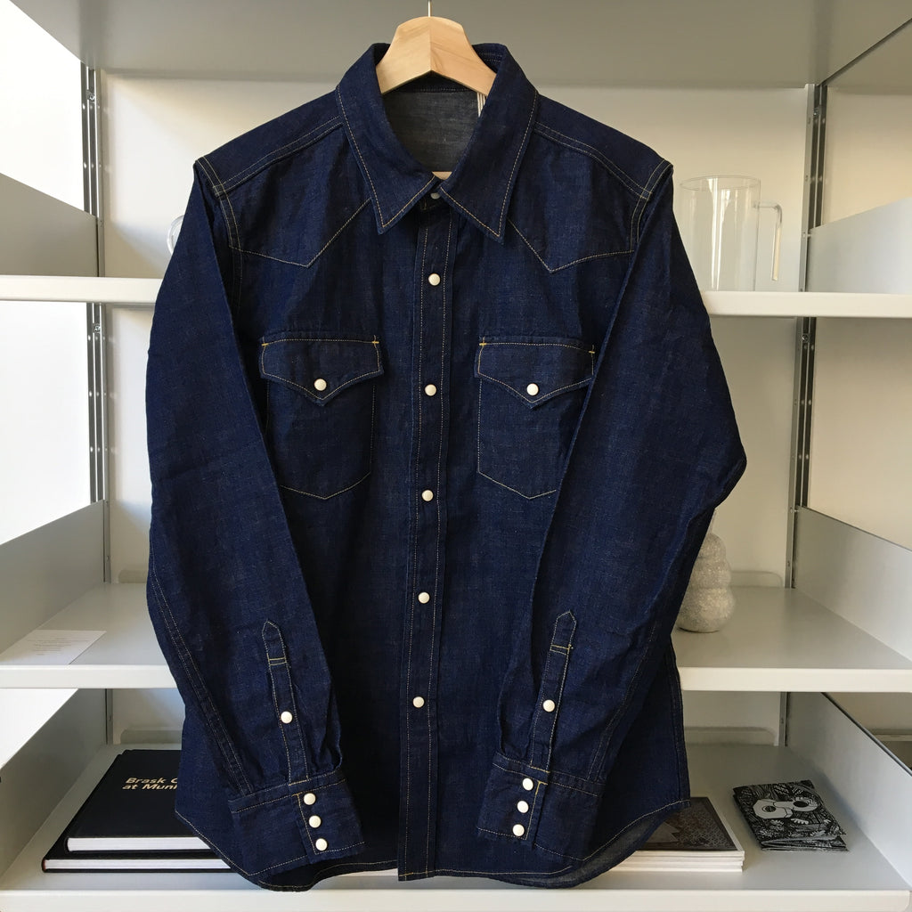 8oz. Selvedge Denim Western Shirt