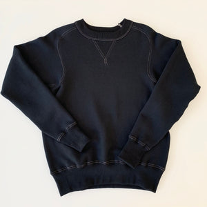 Freedom Sleeve Tsuri-Ami Loopwheel Sweatshirt in Black